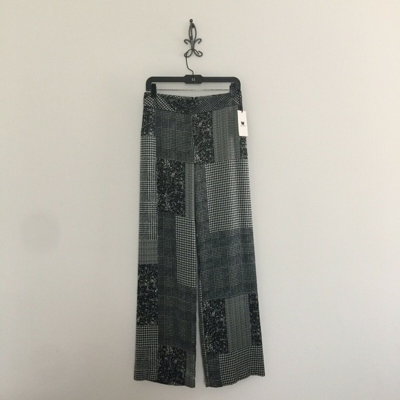 W by Worth Pants - W by Worth Black White Miller Palazzo Pants 0